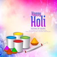 Hermoso diseño de fondo feliz celebración de Holi vector