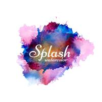 Vetor de design elegante splash aquarela colorida