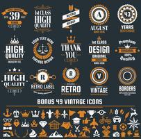 Vintage Retro Vector etiquetas para banner