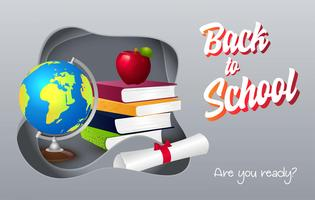 Back to school vector illustration.