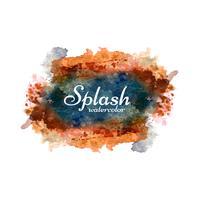 Snygg färgrik vattenfärg splash design vektor