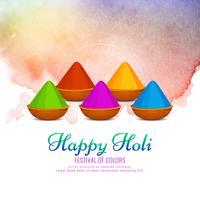 Beautiful Happy Holi celebration background design vector