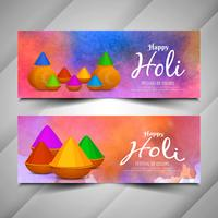 Stijlvolle Holi-festival prachtige banners instellen