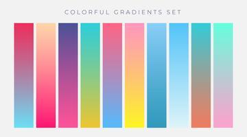 bunte Reihe von lebendigen Farbverläufen