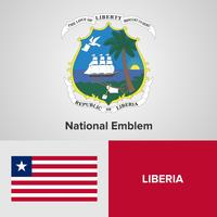 Liberia National Emblem, Map and flag