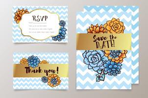 bodas, guardar la fecha de invitación, RSVP y tarjetas de agradecimiento.