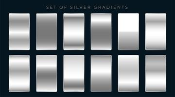 set of silver or platinum gradients