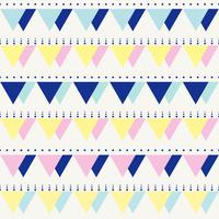 Seamless vintage abstract pattern with triangles in the style of 80 s.  vector