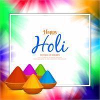 Fondo abstracto colorido Holi feliz vector