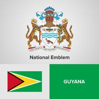 National Emblem, Map and flag