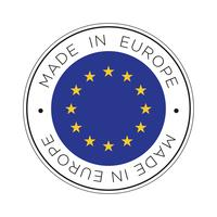 made in europe flag icon.
