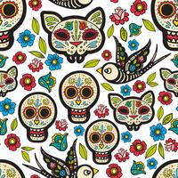 The seamless  of Day of the Dead,