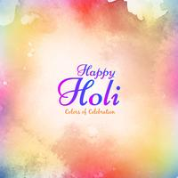 Abstract Happy Holi beautiful background vector