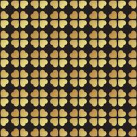 Goldnahtloses Muster mit Kleeblättern, das Symbol von St. Patrick Day in Irland