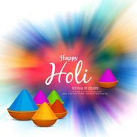 Abstract Happy Holi festival celebration background vector