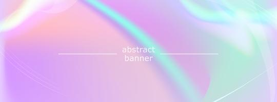 Banner vector iridiscente abstracto