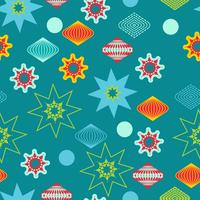 Retro christmas decorations, seamless pattern