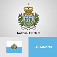 San Marino National Emblem, Karte und Flagge