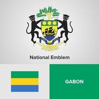 Gabun National Emblem, Karte und Flagge
