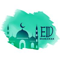 muslim eid festival lovely greeting design