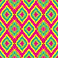 Mexican Folkloric  tracery textile seamless pattern