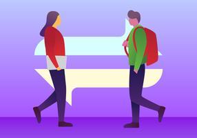 Hervorragende Austauschschüler-Vektoren