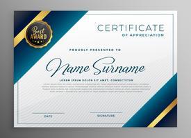 award diploma certificate template design