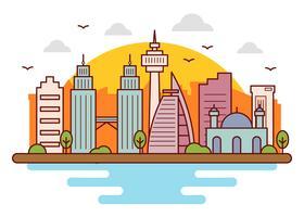 Vetor de horizonte de Kuala Lumpur