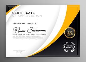 certificado profesional plantilla diploma premio diseño