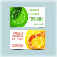 Adreskaartje met bloemenornament, monogram