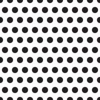seamless patterns with white and black peas (polka dot).  vector