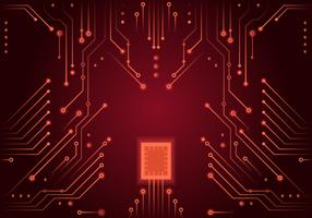 Red Printed Circuit Board Vector