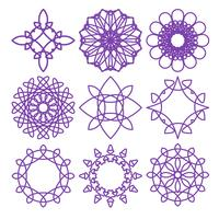 Round geometric ornaments vector