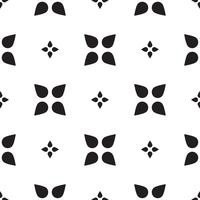 Universal black and white seamless pattern tiling .