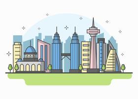 Vecteur de Kuala Lumpur Skyline