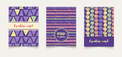 Template ethnic creative cards.