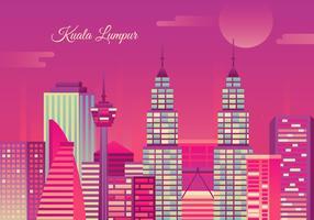 Kuala Lumpur Illustration Vector