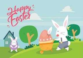 Carta da parati del fumetto di Pasqua