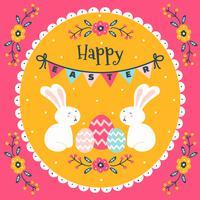 Ilustración colorida del papel pintado de Pascua