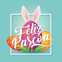 Feliz Pascoa Typografi