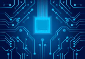 Blue Printed Circuit Board Vector