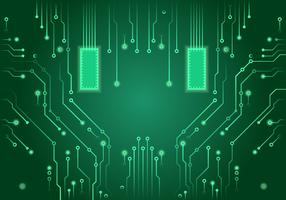 Green Printed Circuit Board Vector