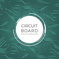 Flat Printed Circuit Vector Background
