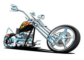 Custom American Chopper Motocicleta Vector Illustration