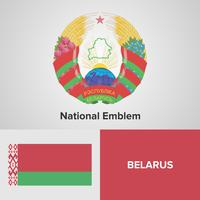 Nationellt emblem, karta och flagga