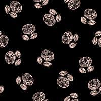 Motif sans soudure floral abstrait avec des roses.