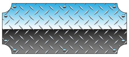 Brilliant Chrome Diamond Plate Metal Sign Bakgrund Vector Illustration