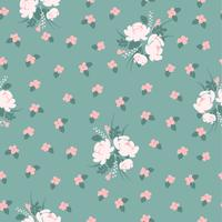 Floral abstract seamless pattern whit roses.