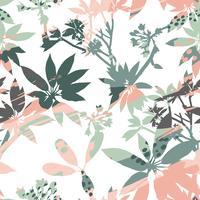 Silhouettes abstraites motif floral sans soudure de feuilles et artistique.