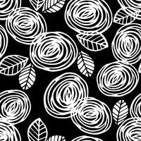 Motif sans soudure floral abstrait avec des roses. Textures dessinées à la main à la mode.